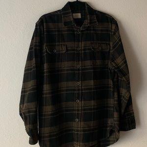 Jachs Shirts - JACHS Button-Down Flannel Brown & Black Size L
